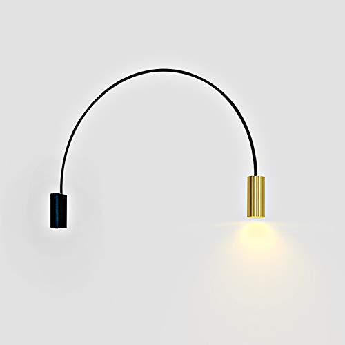 LXHK Wandleuchten Innen Modern, LED Bogenleuchte Wohnzimmer, Flexibler Bogenlampe Schwenkkopf Wandmontage Spotlicht, Einstellbar Bogen Augenschutz Wandlampe für Schlafzimmer Büro Restaurant
