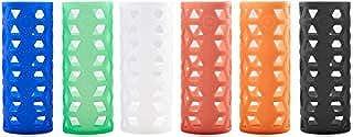 Silicone Sleeves for Pratico Kitchen, Epica, Hydro Flask, Estilo, Similar Vacuum & Glass Bottles - 6 Pack