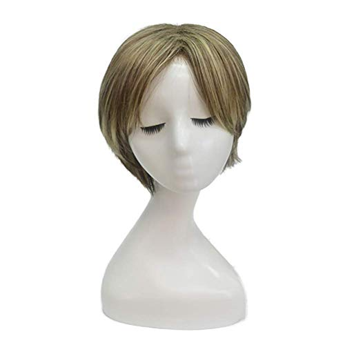 RUIX Mode Dame Flauschige Kurze Glatte Haare Perücke