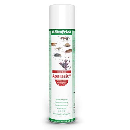Röhnfried Aparasit Insektenspray (750 ml), Mittel gegen Milben, Wespen, Ameisen, Zecken, Spinnen, Fliegen & andere Insekten, Ungezieferspray für Hühner