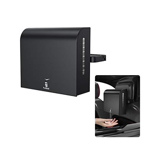Car Hand Sanitizer Dispenser, Automatic Hand Sanitizer Dispenser with Infrared Motion Sensor, Flame Retardant Plastic Safe Dispenser Large Capacity (Back Seat, Black)