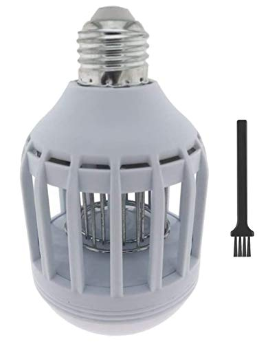 Matamoscas eléctrico 2 en 1, protección contra insectos y mosquitos, lámpara LED E27 9 W 560 lúmenes, simplemente enroscar en el casquillo E27, listo