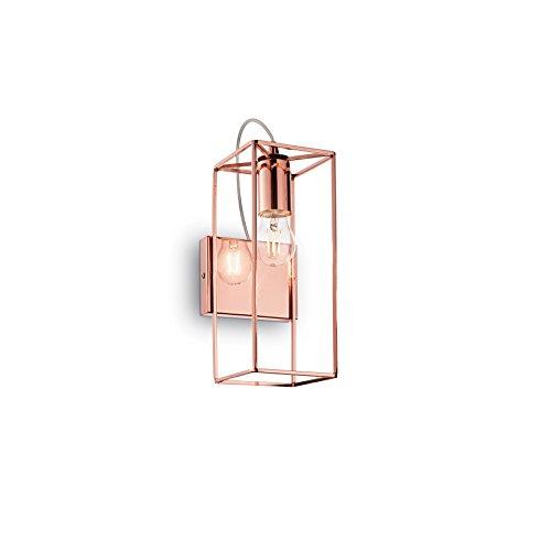 L'Aquila Design Arredamenti Ideal Lux Lampe à paroi Volts AP1 Couleur cuivre et Monture en métal