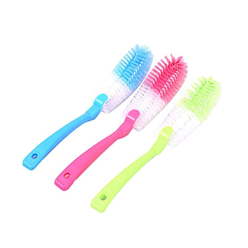 Zhou-YuXiang Long Handle Bottle Brush Cleaner Cup Dish Pot Bottom Scrubber Cleaning Washing Brushes Washer for Water Bottles Tea Cups Glass