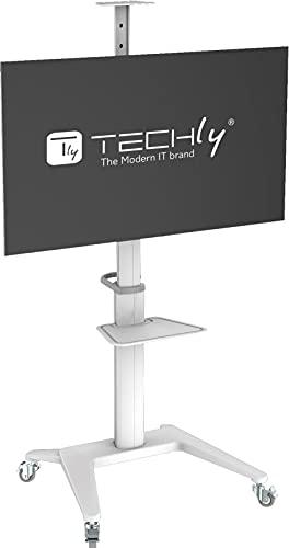 Techly 362176 - Soporte de suelo para televisores de 37' a 70', color blanco