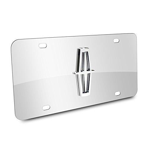 Au-Tomotive Gold, INC. Lincoln 3D Logo Chrome Stainless Steel License Plate,Chrome,12'x6'