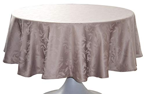 CALITEX Nappe DAMASSÉE Ombra Taupe Ronde 180
