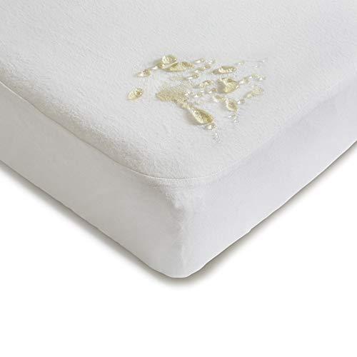 Niimo Alèse Protégé Matelas Imperméable 60x120 100% Coton repassable et lavable en machine pour lit d'enfant de 60 x 120 cm