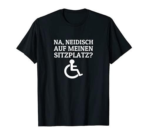 Rollstuhlfahrer Rollifahrer Rollstuhl Sprüche T-Shirt