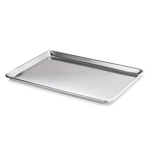 "New Star Foodservice Commercial-Grade Aluminum Sheet Pan 15"" L x 21"" W x 1"" H (Two Thirds size)"