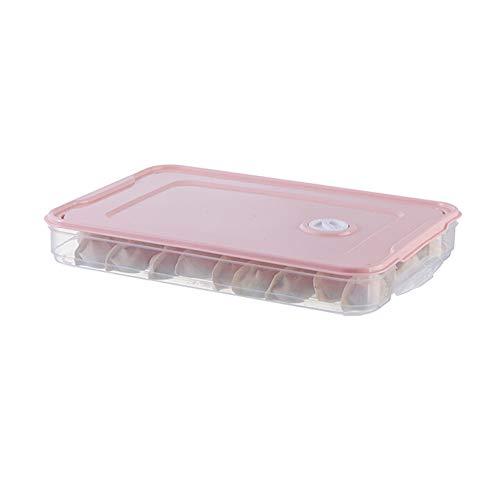 Fintass voedsel bewaring lade koelkast stapelbare voedsel dumplings opslag organisator doos met deksel keuken gereedschap