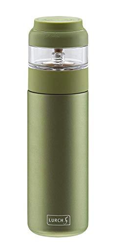 Lurch 240916 Bereiter 2 in 1: Isolierflasche und Teezubereiter für grünen und weißen Tee, Edelstahl, 400 milliliters