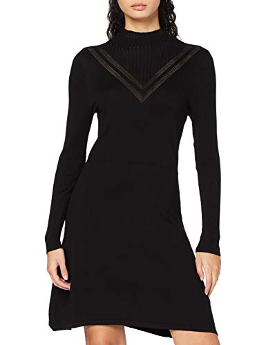 ONLY Damen ONLLIVI Life L/S Dress KNT Kleid, Black, M