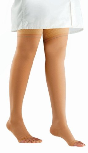 Comprezon Varicose Vein Stockings Class 2- Mid Thigh- 1 pair (Small)