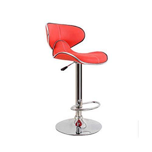 HQY Taburete Silla de bar, silla de ocio minimalista Silla de bar simple de acero inoxidable Silla de bar giratoria de 360 ° de estilo nórdico para restaurante Café Cena Oficina ajustable en altura