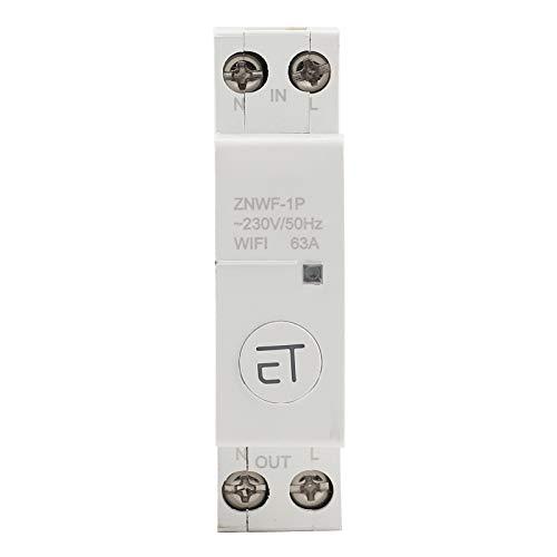 1P AC230V IP20 Interruptor de circuito inteligente WIFI Interruptores de circuito en miniatura Interruptor de control remoto para caja de distribución(1P 63A)