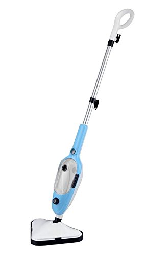 VYTRONIX STM01 10-in-1 1300W Multifunction Handheld and Upright Floor/Carpet Steam Cleaner Mop (Blue)