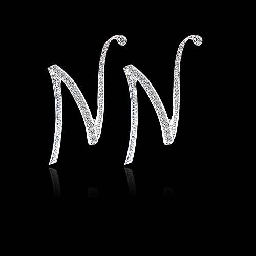 DFDLNL Conjuntos de aretes para Mujer Pendientes de Aros Pendientes de 26 Letras Fiesta Mujeres N
