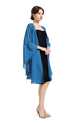 100/% Foulard di Seta Sciarpa Leggera Chiffon Donna Farfalle Volanti inVari Colori Prettystern