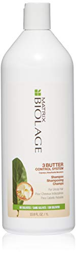 BIOLAGE 3Butter Control System Shampoo | Locks In Nourishment & Moisture To Fight Frizz | Sulfate & Paraben-Free | For Unruly Hair