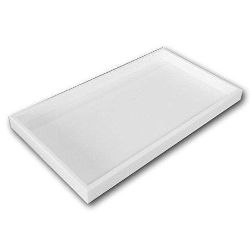 Full Size White Plastic Display Tray ~ 14 3/4' x 8 1/4' x 1'