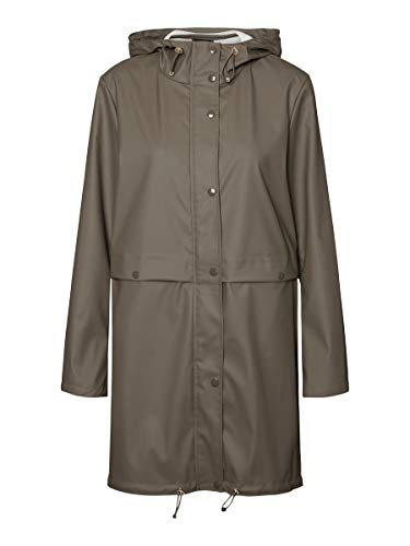 VERO MODA Damen VMEVERYDAY 3/4 Coated Jacket GA Regenjacke, Bungee Cord, XS