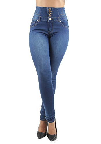 Colombian Design, Butt Lift, Levanta Cola, High Waist, Skinny Jeans in Blue Size 17 (ML1)