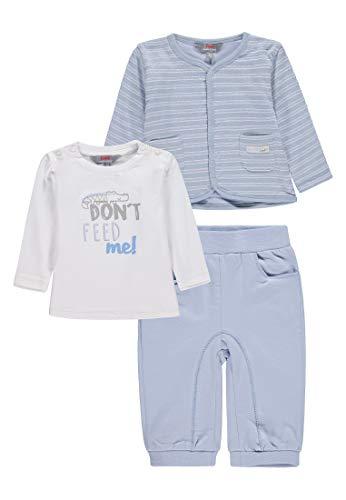 Kanz Baby-Jungen Set 3tlg. (Jacke T-Shirt 1/1 Arm + Jogginghose) Bekleidungsset, Mehrfarbig (Y/D Stripe|Multicolored 0001), 68