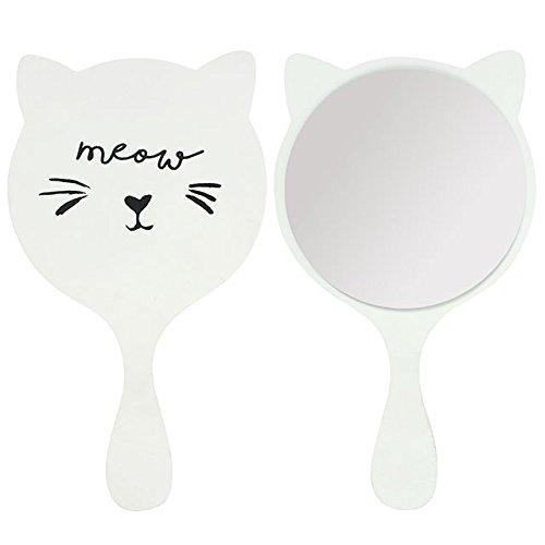 Chat Blanc Mini Handheld Miroir