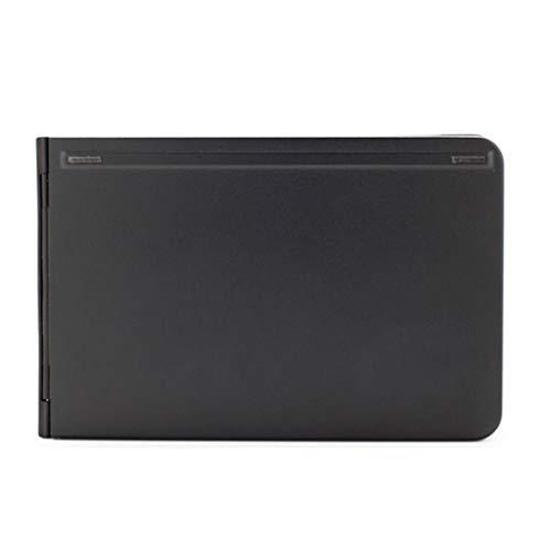 Teclado, Teclado inalámbrico de Juegos, Plegable Ligero y portátil inalámbrico Bluetooth iOS/Android Tableta del teléfono Universal de Aluminio Material, Anti-Desgaste, Negro, Oro (Color : Black)