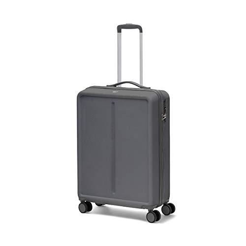 Ciak Roncato Valigia Trolley Rigido Grande da Viaggio, 100% ABS, Leggero e Comodo Colore Grigio Antracite 76 cm