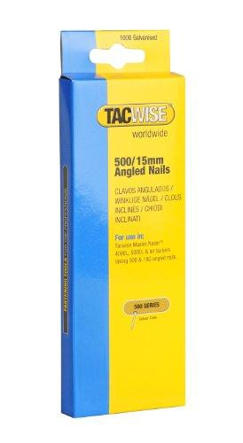 Tacwise 0971 Boîte de 1000 Clous en Acier Inoxydable 15 mm Type 500