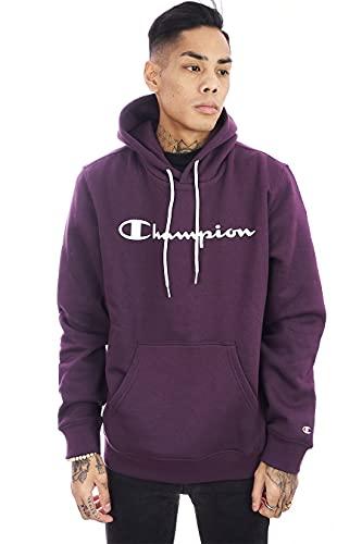 Champion Felpa da uomo con cappuccio 214743, bordeaux, XS