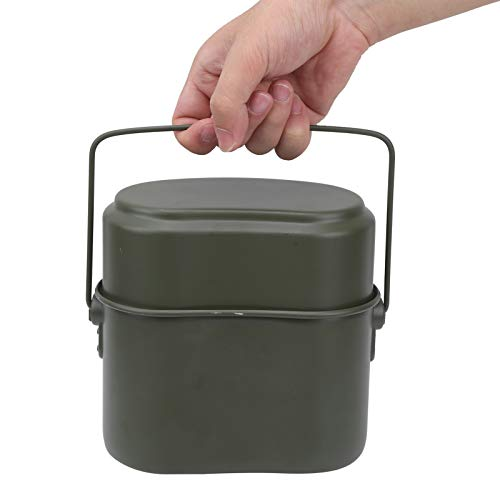 Jingyig Bento Box, Fiambrera de Grado alimenticio, portátil Verde Militar para Acampar Viajes al Aire Libre