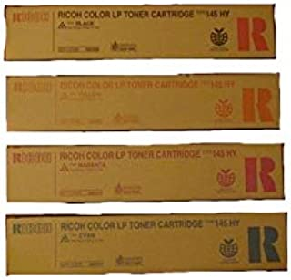 Genuine Ricoh Cl4000Dn Spc411Dn Type 145 High Yield Toner Bundle Set 888308, 888309, 888310, 888311 Bcym Sealed in Retail Packaging