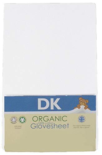 Dk Glovesheet hoeslaken 100% ools katoen geschikt voor de matrassen Chicco Next 2 Me - wit - 83 cm x 50 cm