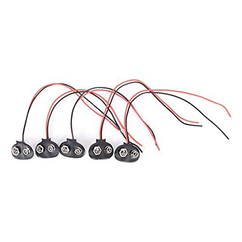 YFJCL Clip de batería 10pcs D. C. Máquina de Enchufe de alimentación Hebilla 9 V Conector de Cable de la batería Fácil de conectar (Color : T)