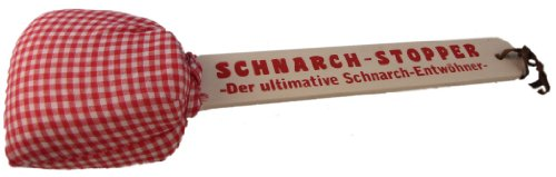 Out of the blue Schnarch-Stopper aus Holz mit Kissen