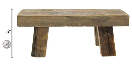 Park Hill Mini 5' x 13.5' Wooden Stool Display Stand (Rectangular)