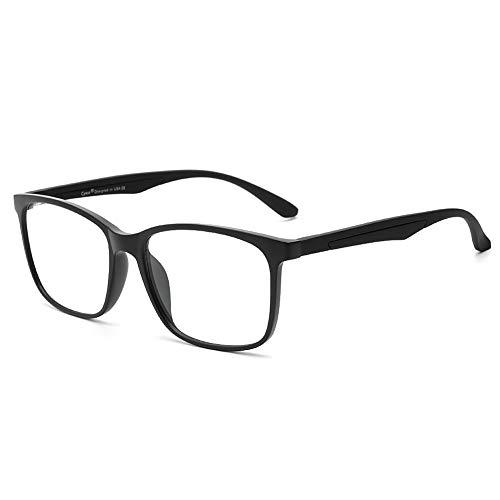 Cyxus Filtro de Luz Azul Gafas de Computadora Anti Fatiga de Ojos Lentes Transparentes para Hombres y Mujeres Bloqueo UV (Marco Negro Mate 8083)