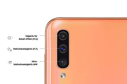 Samsung Galaxy A50 Smartphone (16.3cm (6.4 Zoll) 128GB interner Speicher, 4GB RAM, Orange) - Deutsche Version