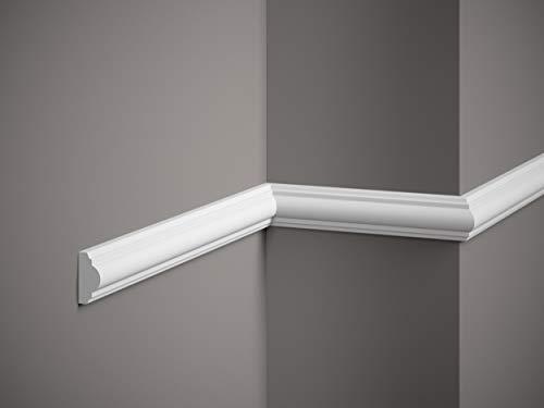 Wandleiste Mardom Decor MD002 ScratchShield® Trennleiste Friesleiste weiß 2m Höhe 4cm