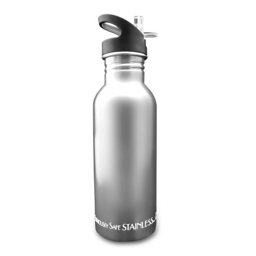 New Wave Enviro Stainless Steel Water Bottle (0.6 Liter, Natural)