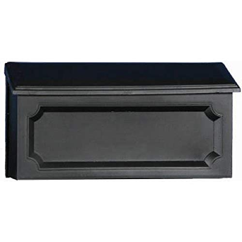 Gibraltar Mailboxes Windsor Small Capacity Rust-Proof Plastic Black, Wall-Mount Mailbox, WMH00B04