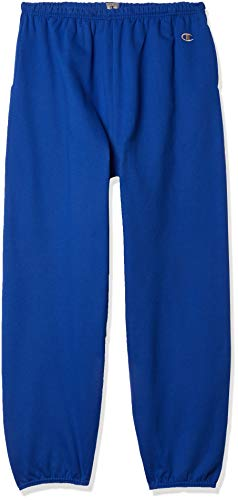 Champion Men's Cotton Max Fleece Sweatpant, Athletic Royal, 3X Large