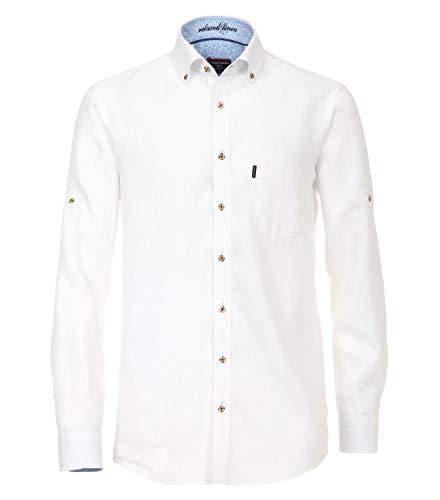 CASAMODA - Camicia da uomo in lino, casual fit Bianco – Uni Nah (000). XL