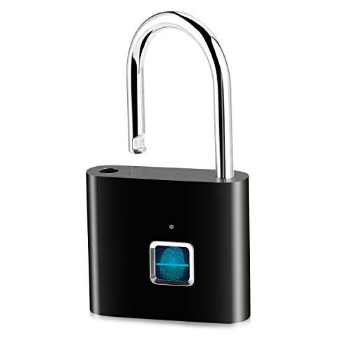 Fingerabdruck Padlock IP65 Wasserdichte Vorhängeschloss Elektronisches Smart Keyless Sicherheits Vorhängeschloß für Schließfächer Rucksäcke Türen Koffer usw