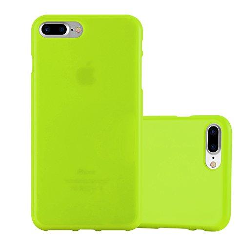 Cadorabo Custodia per Apple iPhone 8 Plus / 7 Plus / 7S Plus in Jelly Verde - Morbida Cover Protettiva Sottile di Silicone TPU con Bordo Protezione - Ultra Slim Case Antiurto Gel Back Bumper Guscio