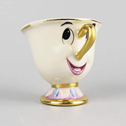 Beperkt Cartoon Schoonheid En Het Beest Been China Mok Theeset Mevrouw Potten En Chips Theepot Cup Kerstmis Cadeau Koffie Cup Set Keramisch