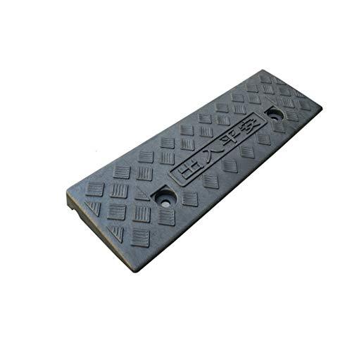 Innenrampen, kleine, leicht zu tragende Rollstuhlrampen Rollerschwellenrampen Rutschfeste Multifunktionsrampen (Farbe : Schwarz, größe : 48 * 15 * 3CM)